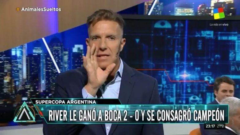 Fantino muy duro con Barros Schelotto por la derrota de Boca