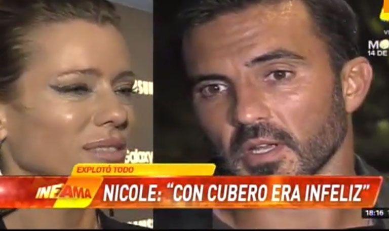 La dura respuesta de Fabián Cubero a Nicole Neumann