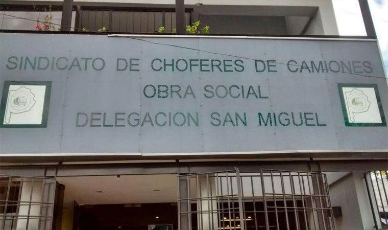 Allanaron el sindicato camioneros de San Miguel