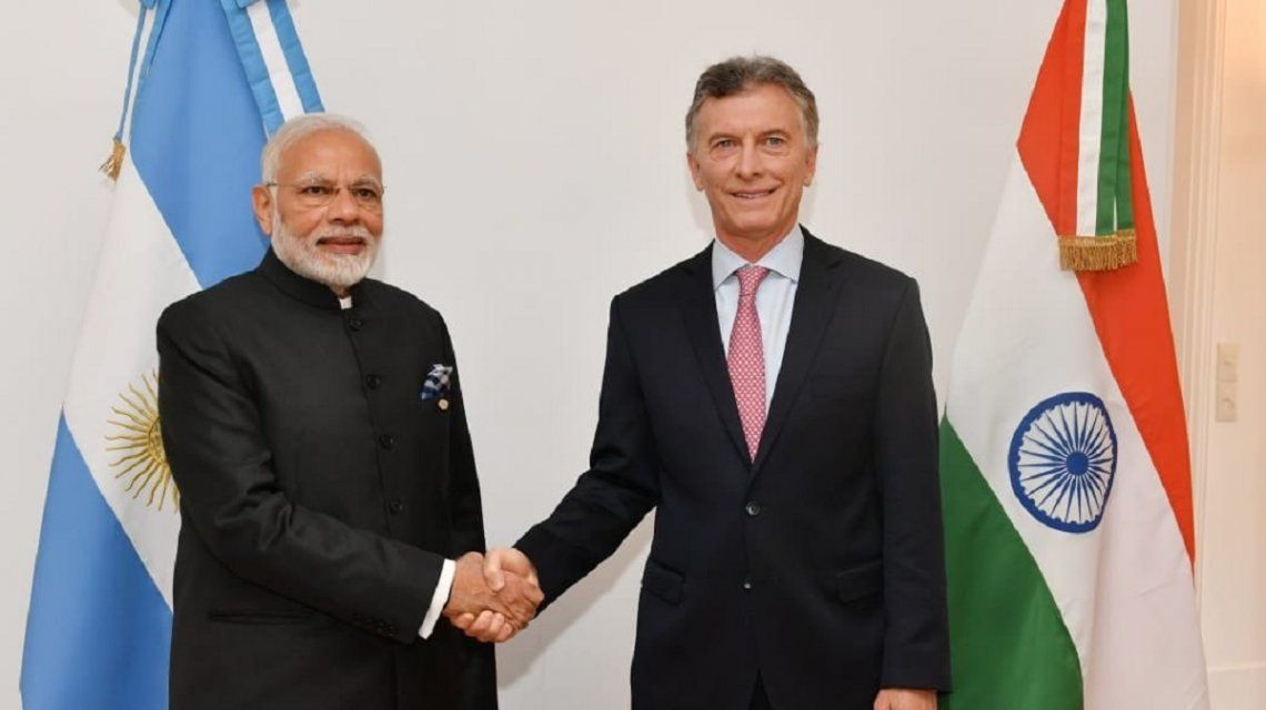 G20: Macri recibió al primer ministro de la India Narendra Modi