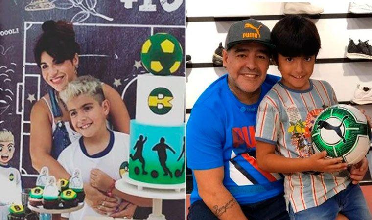 Verónica Ojeda mostró el primer dibujo de su hijo a Maradona