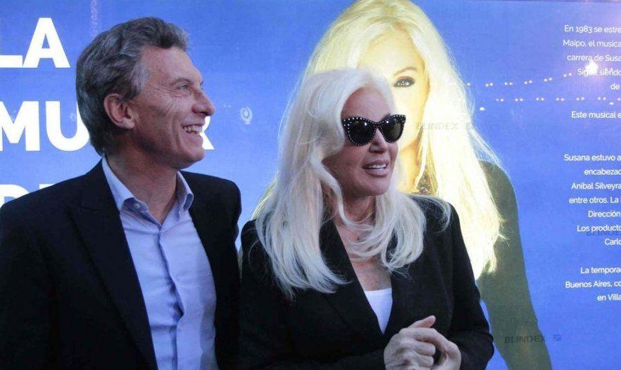 Susana Giménez ratificó su compromiso con el partido de Macri