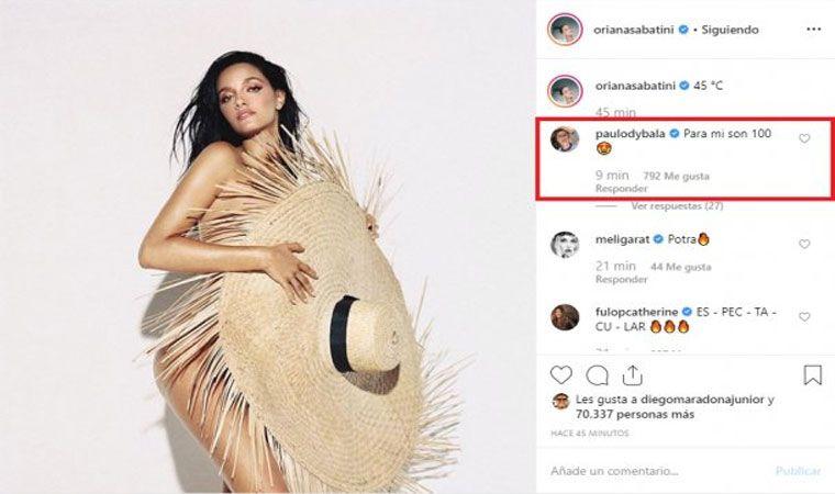 La Foto Al Desnudo De Oriana Sabatini Y El Comentario Hot De Paulo