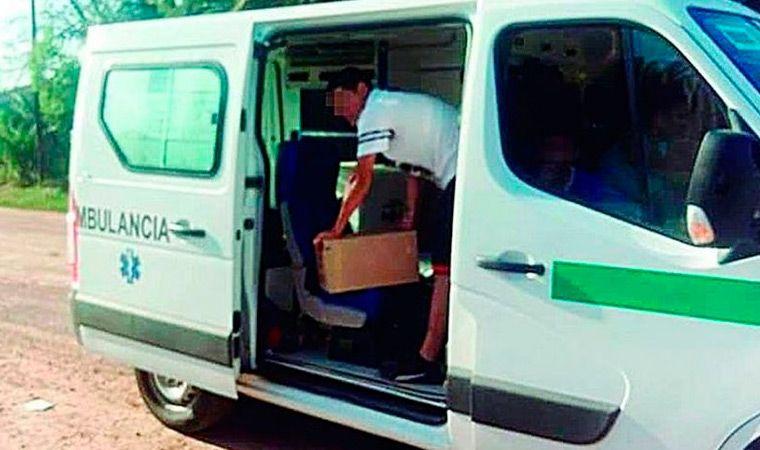 Usaban una ambulancia para llevarle fernet al hijo de un intendente