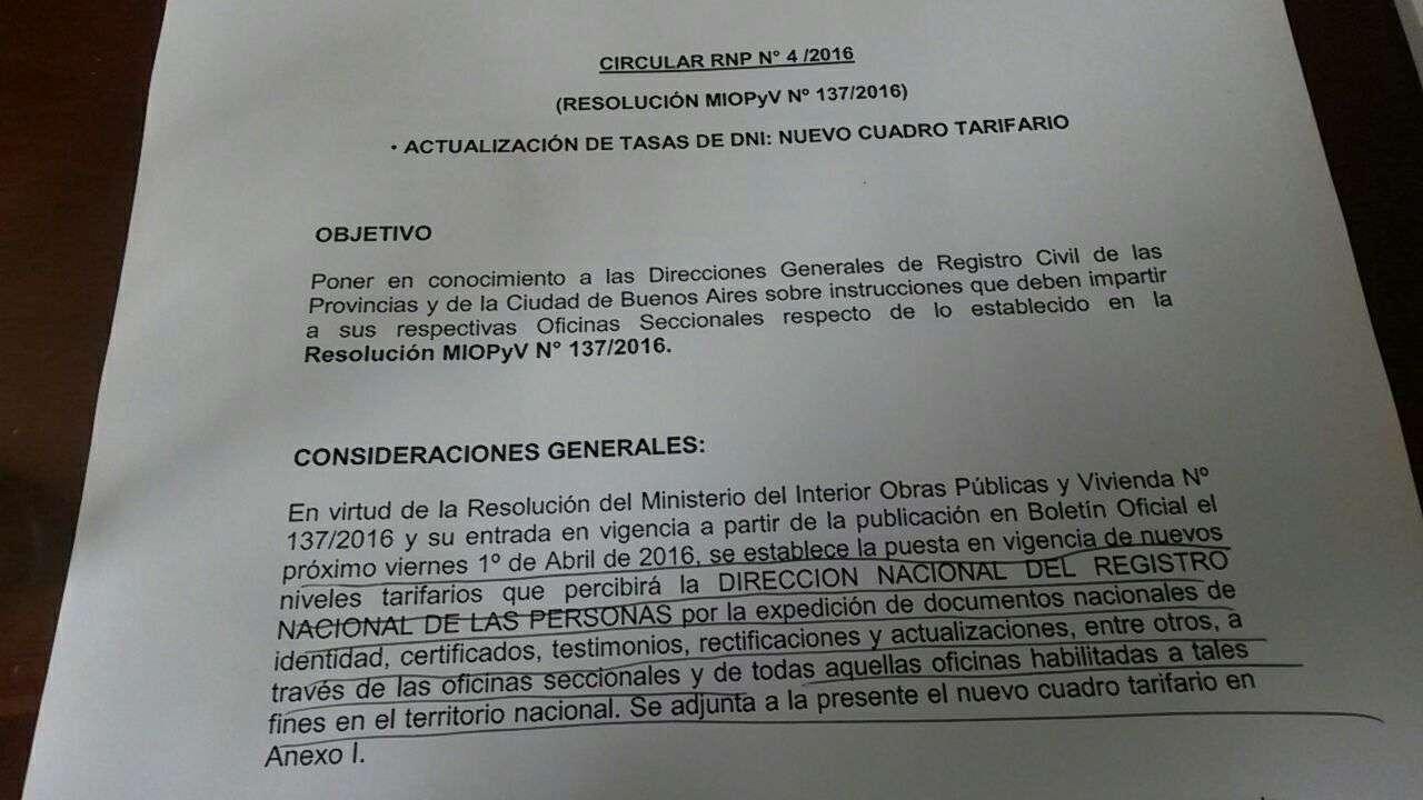 Nueva tarifa para realizar el tr mite de dni - Ministerio del interior renovacion dni ...