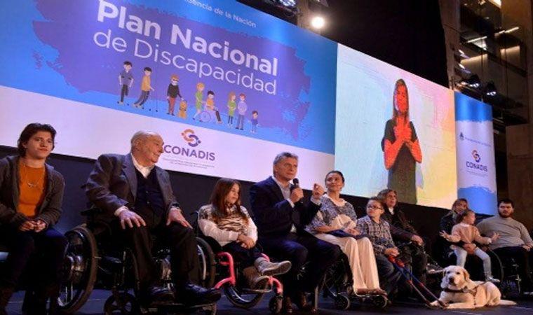 Mauricio Macri presentó junto a Gabriela Michetti el Plan Nacional de Discapacidad