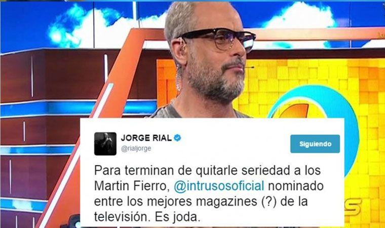 La terna más polémica de los Martín Fierro: Intrusos, nominado como magazine