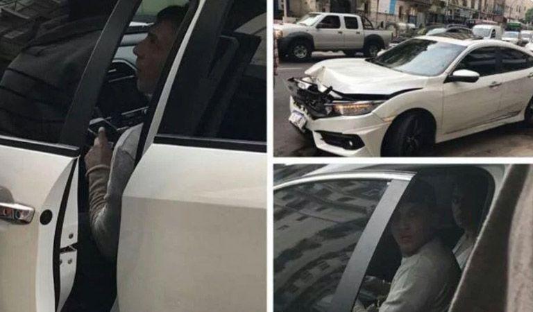 Dramático: así quedó el auto de El Polaco y Silvina Luna (foto)