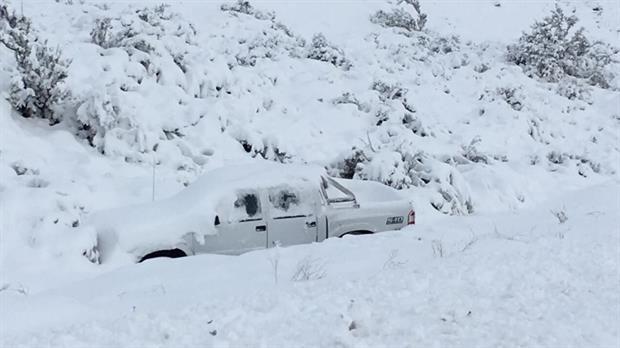Rutas cortadas y sin clases en Chubut por el intenso frío