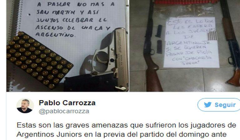 Barristas de Chacarita amenazaron a jugadores de Argentinos Juniors