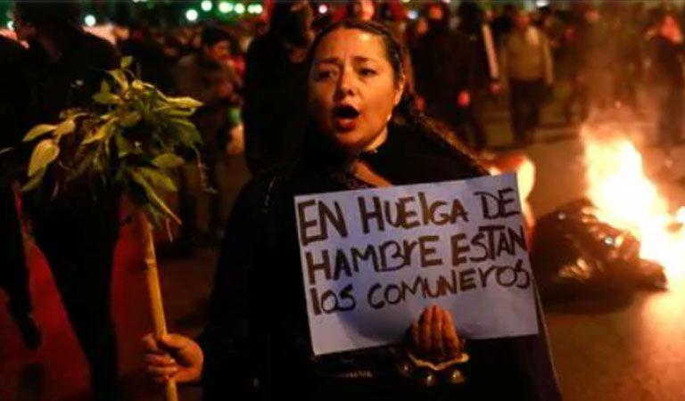 Al menos 30 detenidos en protesta a favor de comuneros