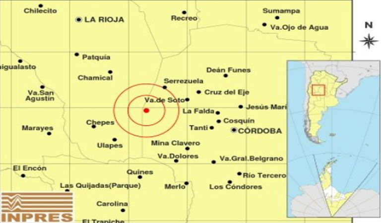 Hubo un sismo de 5,5 grados — Córdoba