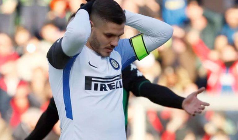 Sassuolo 1-0 Inter: Icardi no tuvo su mejor día