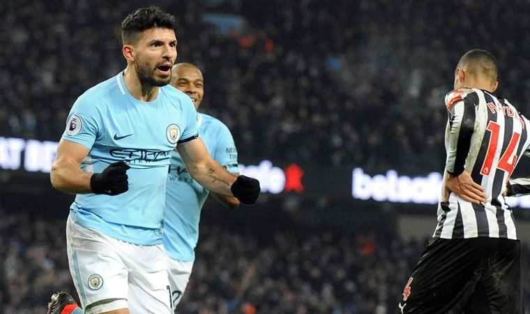 Manchester City superó a Newcastle con hat-trick del Kun Agüero